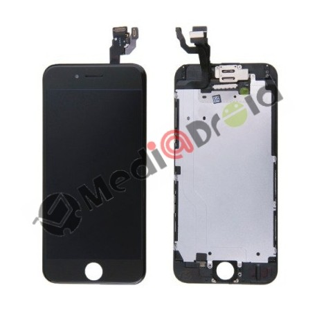 VETRO TOUCH SCREEN + DISPLAY LCD + FRAME METALLICO + SPEAKER + FOTOCAMERA FRONTALE COMPLETO PER IPHONE 6 NERO