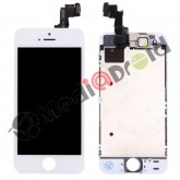 VETRO TOUCH SCREEN + DISPLAY LCD + FRAME METALLICO + SPEAKER + FOTOCAMERA FRONTALE COMPLETO PER IPHONE 5S BIANCO