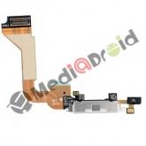 DOCK USB CONNETTORE RICARICA E DATI + MICROFONO PER IPHONE 4 BIANCO