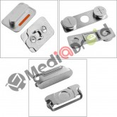 KIT 3 TASTI VOLUME MUTE VIBRAZIONE ON OFF ACCENSIONE BLOCCO PER IPHONE 4