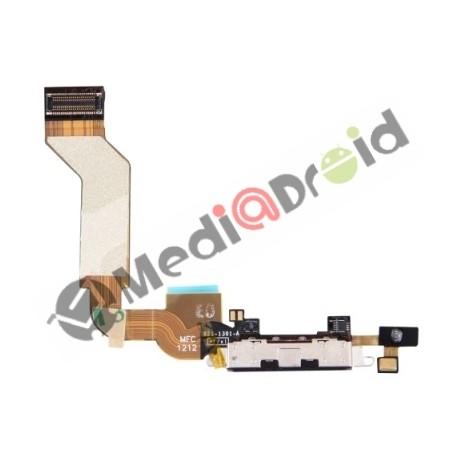 DOCK USB CONNETTORE RICARICA E DATI + MICROFONO PER IPHONE 4S NERO