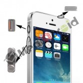 KIT 3 TASTI VOLUME MUTE VIBRAZIONE ON OFF ACCENSIONE BLOCCO PER IPHONE 5S