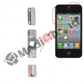 KIT 3 TASTI VOLUME MUTE VIBRAZIONE ON OFF ACCENSIONE BLOCCO PER IPHONE 4S