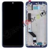 VETRO TOUCH SCREEN + DISPLAY LCD + FRAME PER XIAOMI REDMI NOTE 7 BLU