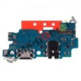 DOCK TIPO-C TYPE USB CONNETTORE RICARICA E DATI + MICROFONO + JACK CUFFIE PER SAMSUNG GALAXY A20 A205F