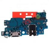DOCK TIPO-C TYPE USB CONNETTORE RICARICA E DATI + MICROFONO + JACK CUFFIE PER SAMSUNG GALAXY A30 A305F