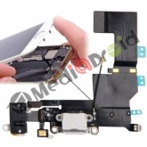 DOCK USB CONNETTORE RICARICA E DATI + MICROFONO + JACK CUFFIE + ANTENNA PER IPHONE 5S BIANCO
