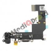 DOCK USB CONNETTORE RICARICA E DATI + MICROFONO + JACK CUFFIE + ANTENNA PER IPHONE 5S NERO