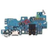 DOCK TIPO-C TYPE USB CONNETTORE RICARICA E DATI + MICROFONO + JACK CUFFIE PER SAMSUNG GALAXY A30S A307F