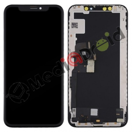 VETRO TOUCH SCREEN + DISPLAY LCD IN-CELL + FRAME PER IPHONE XS NERO