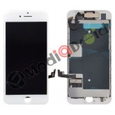 VETRO 3D TOUCH SCREEN + DISPLAY LCD + FRAME METALLICO + SPEAKER + FOTOCAMERA FRONTALE COMPLETO PER IPHONE SE 2020 BIANCO