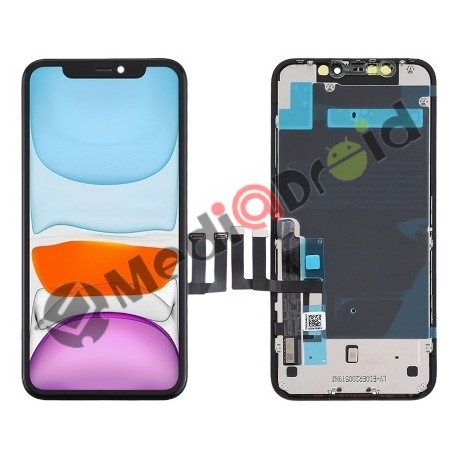 VETRO TOUCH SCREEN + DISPLAY LCD IN-CELL + FRAME PER IPHONE 11 NERO