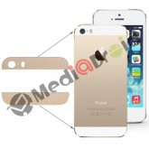 KIT VETRO VETRINO COVER POSTERIORE + BIADESIVO PER IPHONE 5S ORO GOLD