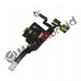 CONNETTORE AUDIO JACK CUFFIE + TASTO VOLUME VIBRAZIONE MUTO PER IPHONE 4S NERO