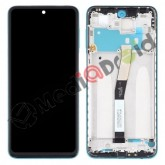 VETRO TOUCH SCREEN + DISPLAY LCD + FRAME PER XIAOMI REDMI NOTE 9S BLU