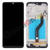VETRO TOUCH SCREEN + DISPLAY LCD + FRAME PER SAMSUNG GALAXY A20S A207F NERO
