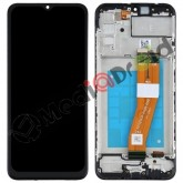 VETRO TOUCH SCREEN + DISPLAY LCD + FRAME PER SAMSUNG GALAXY A02S A025G NERO